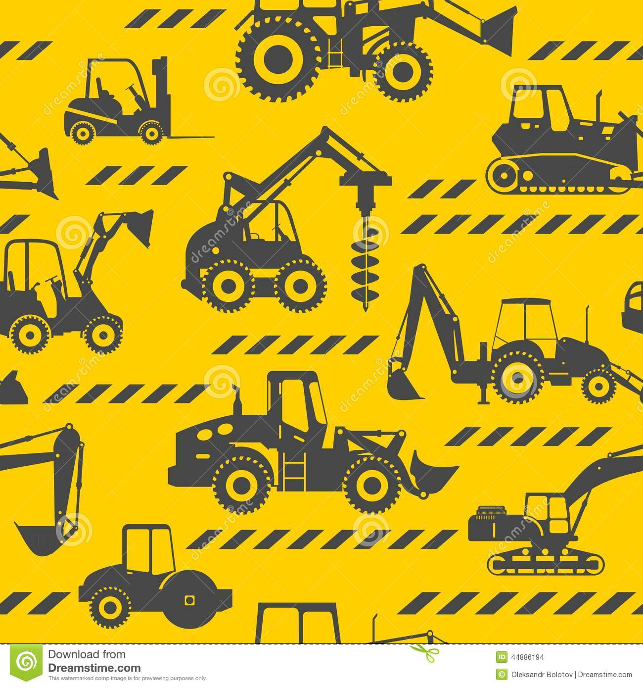 Cute Fairy Wallpaper Download Heavy Construction Machines Seamless Background Stock