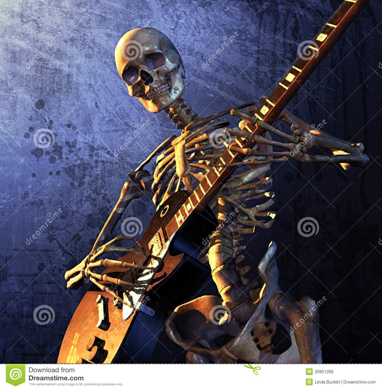 On Heavy Metal Heavy Metal Skeleton Stock Illustration Illustration Of Guitarist