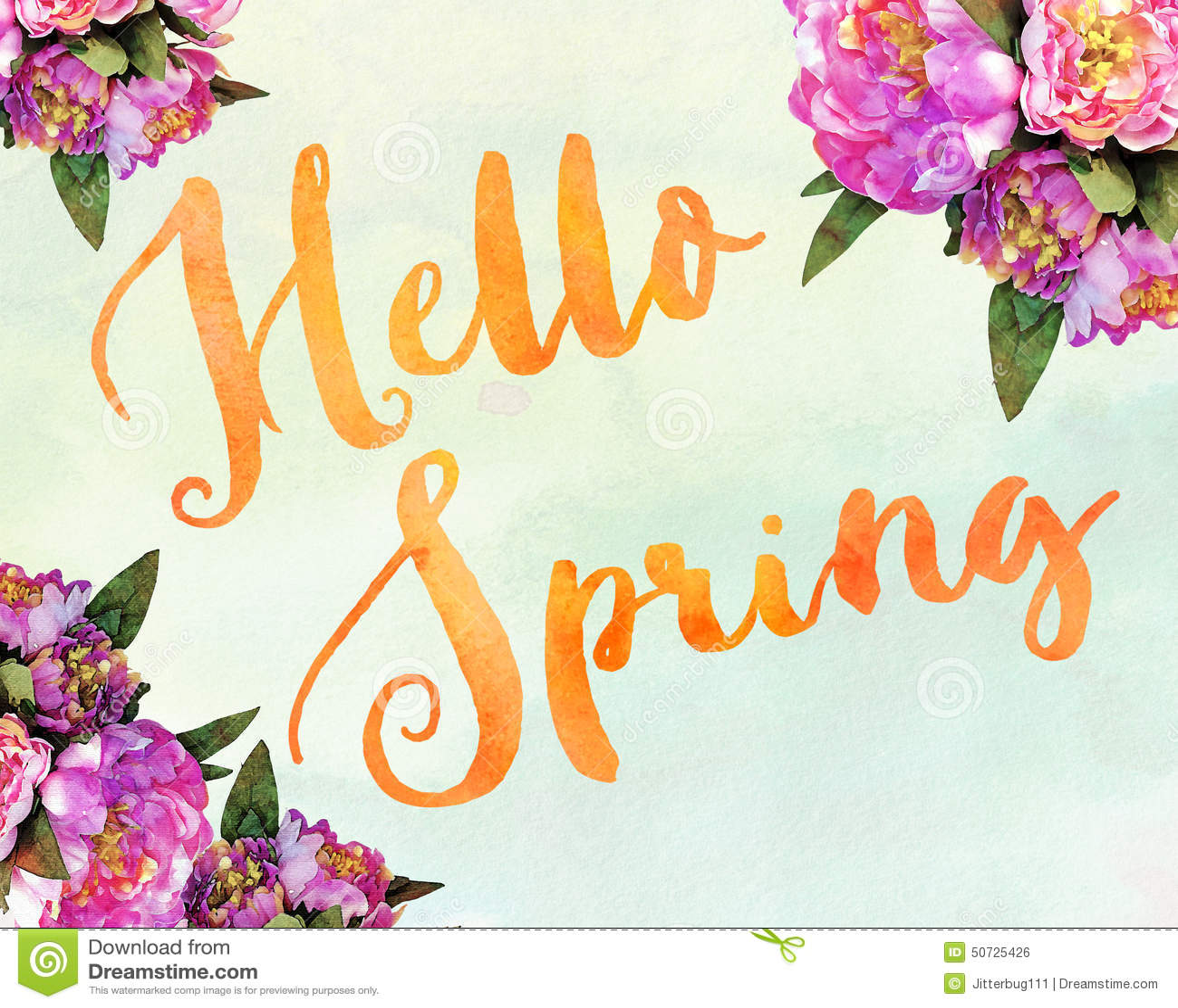 Hamsa Iphone Wallpaper Hello Spring Stock Illustration Illustration Of Card