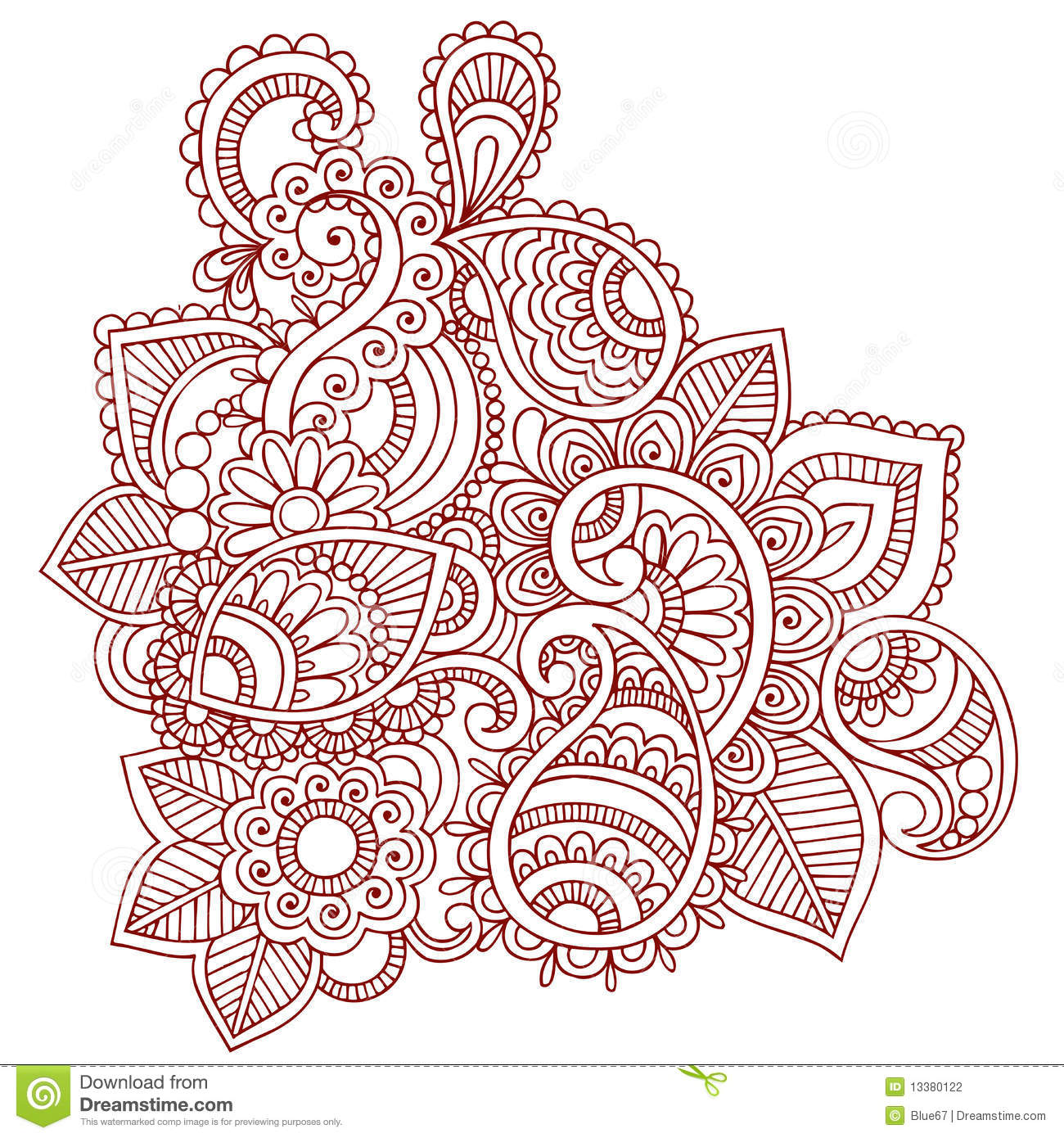 mehndi designs coloring book pages - photo#24