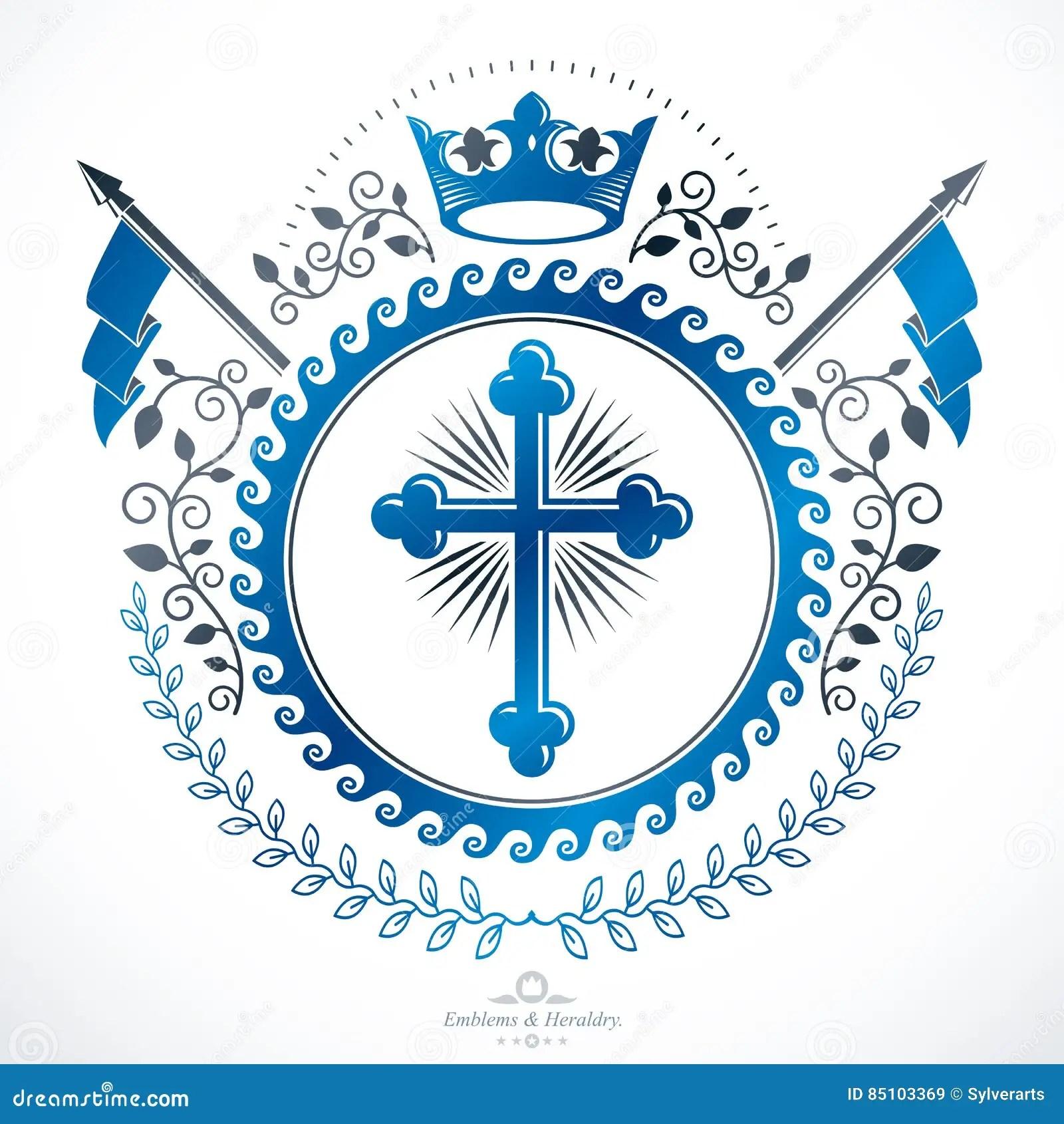 Heraldic Coat Of Arms, Vintage Vector Emblem Stock Vector