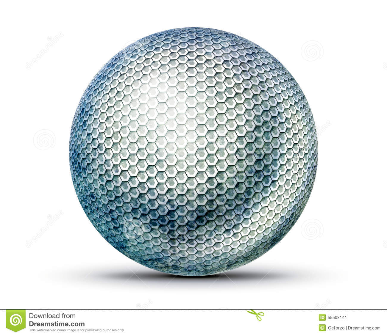 Hexagon Wallpaper 3d Hexagon Sphere Stock Image Illustration Of Background