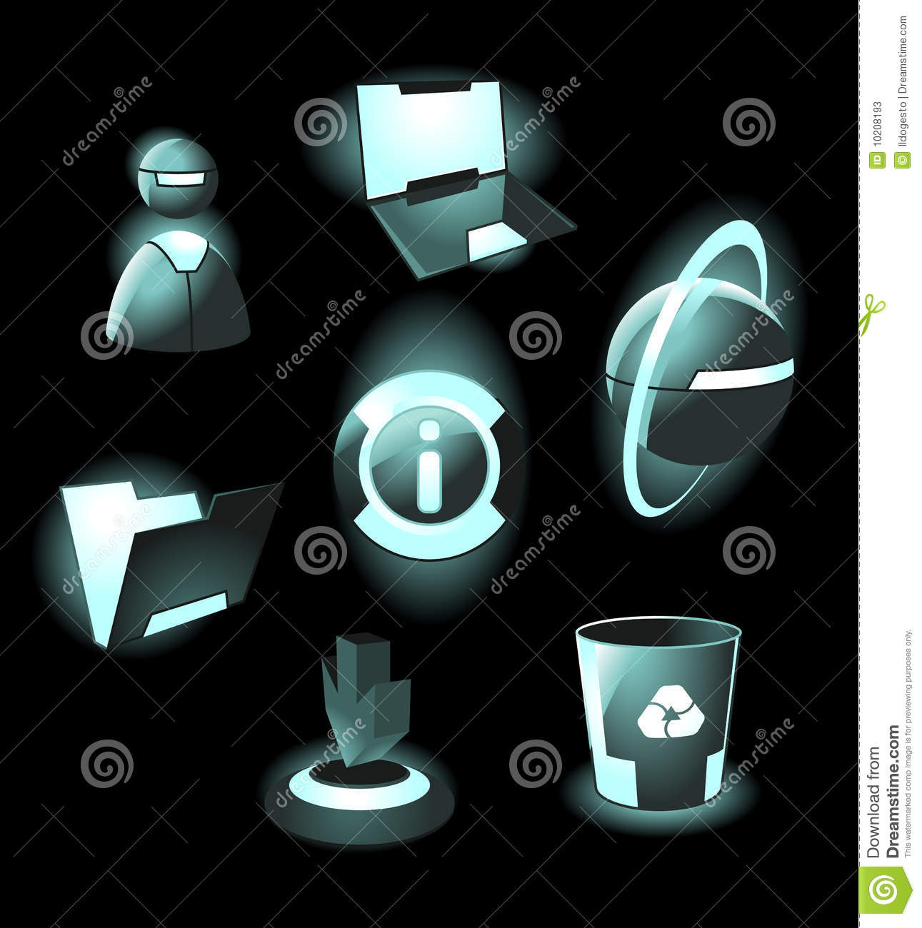 High Tech Lamp Hi Tech Space Icons Stock Photos Image 10208193