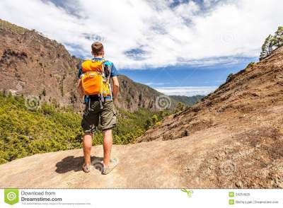 Hiker Or Runner In Mountains Royalty Free Stock Photo ...