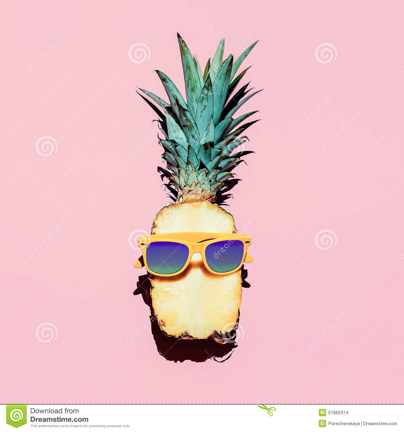 Pineapple With Sunglasses Tumblr Hipster Pineapple Fashion Accessories And Fruits Stock