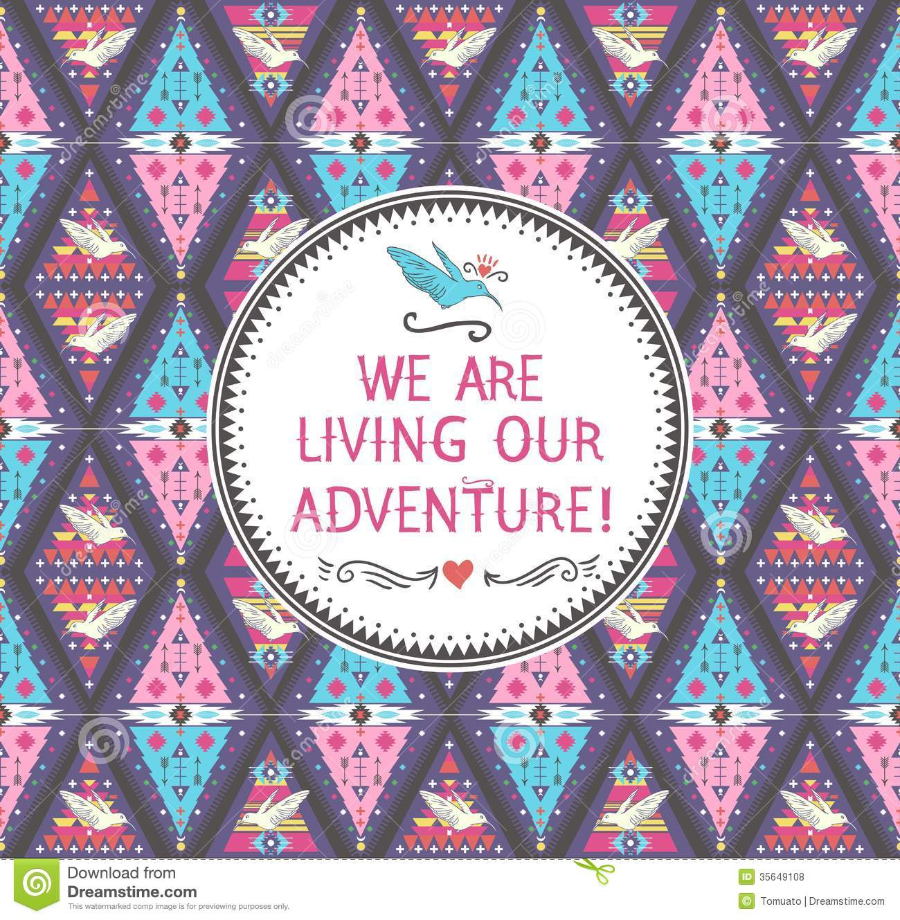 Iisuperwomanii Quotes Wallpaper Hipster Seamless Colorful Tribal Pattern Royalty Free