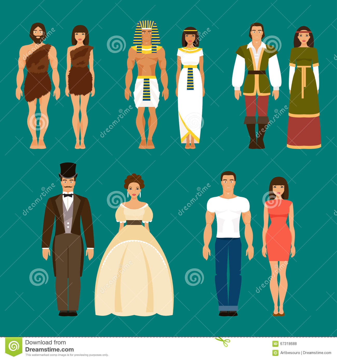 Development History The History Of Human Development Vector Illustration Stock Vector