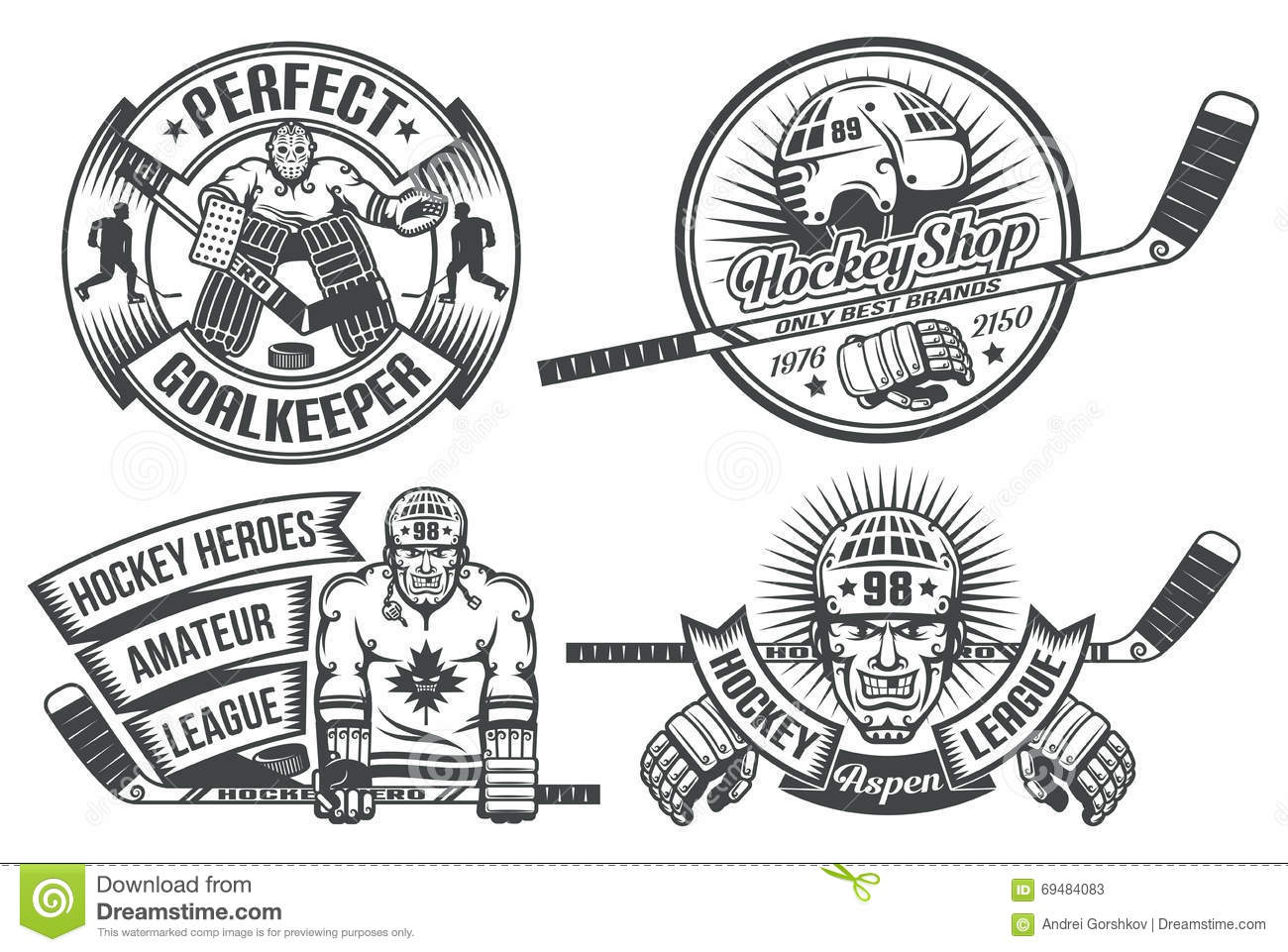 Hockey Logos Hockey Logo Stock Vector Illustration Of Logo Goal 69484083