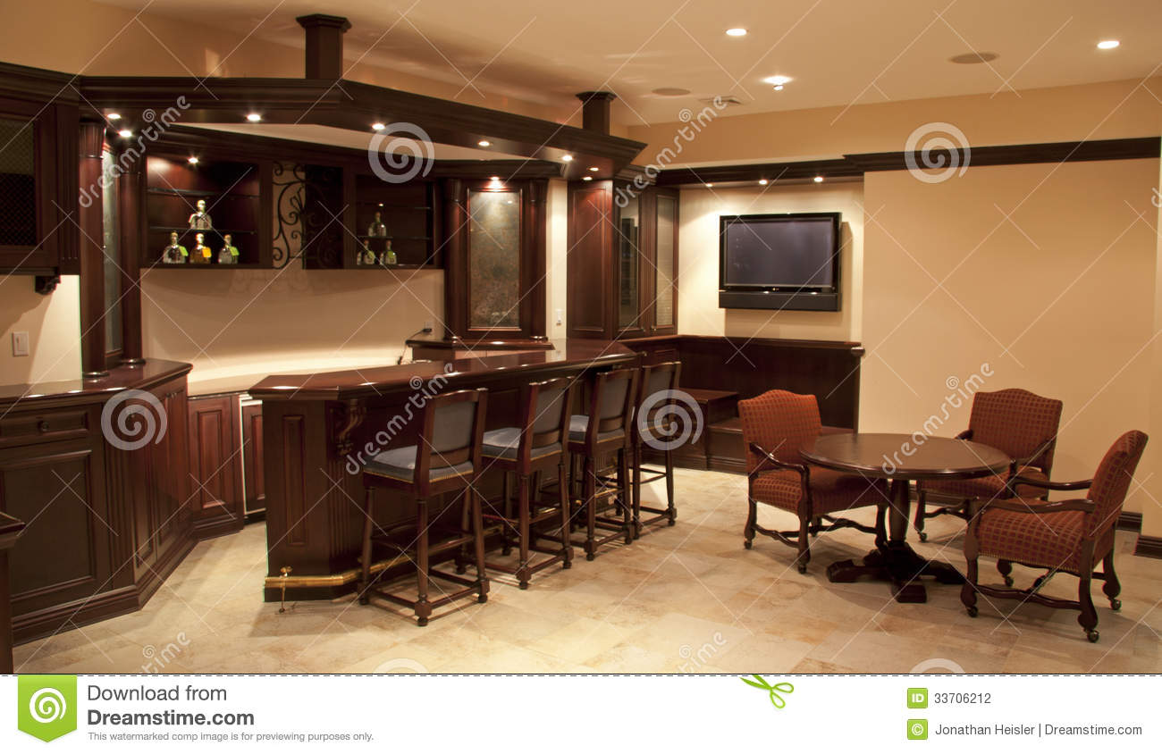 Bar Höhe Home Bar Lounge Stock Photo Image Of Custom Library 33706212