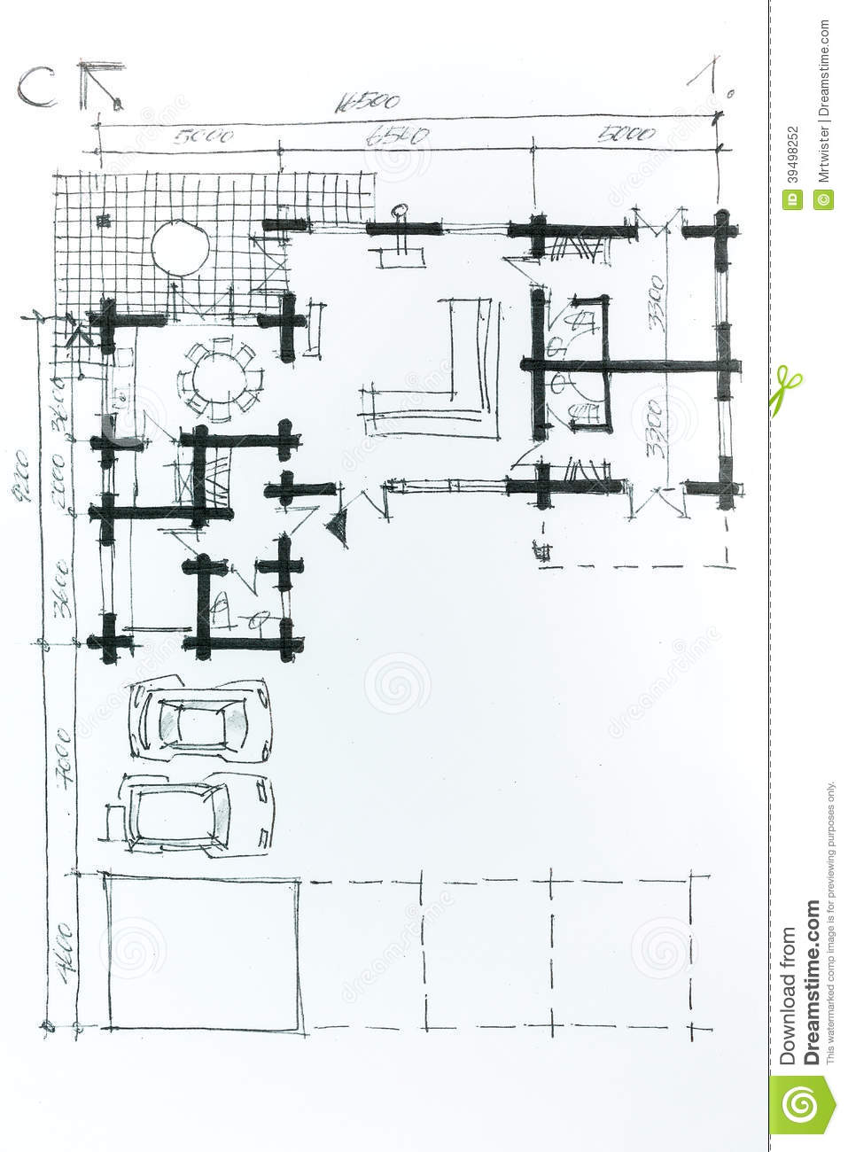 home plan drawing stock illustration image small house plans small house plans small house plans