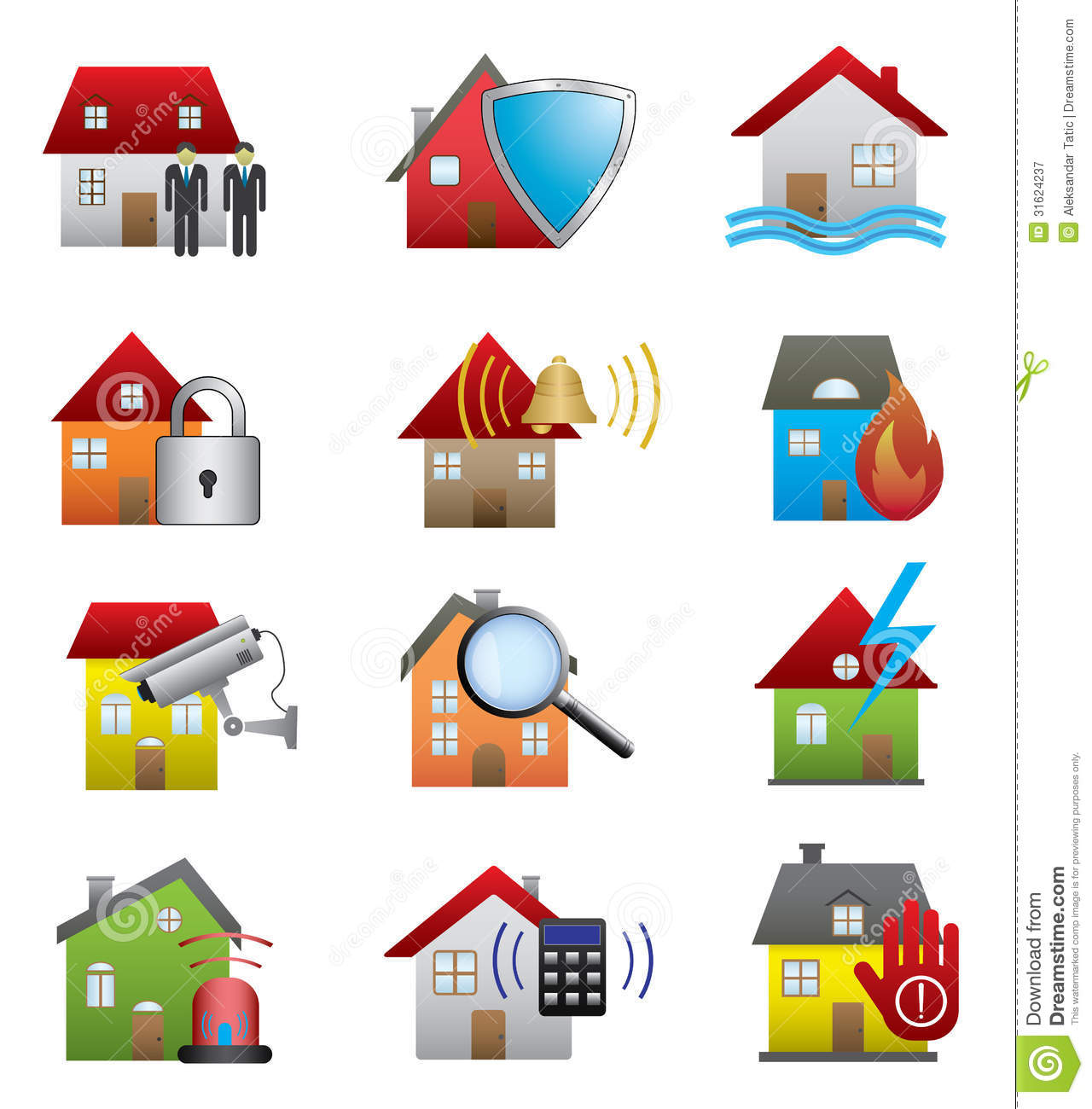 Venta De Sistemas De Seguridad Para El Hogar Home Security Icons Royalty Free Stock Photography Image