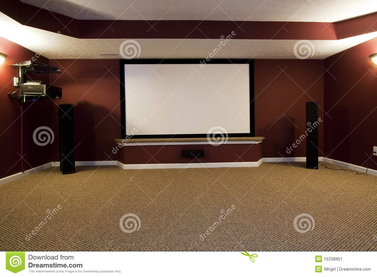 Home Entertainment Setup Home Theater Setup Stock Image Image 15338951