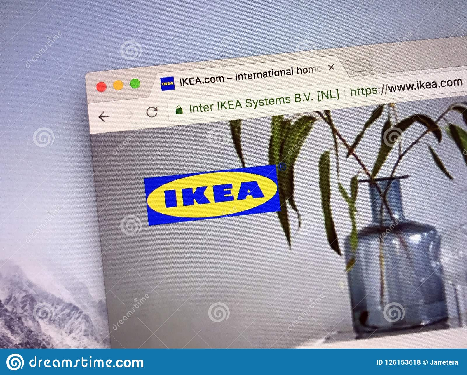 Www Ikea Nl Homepage Of Ikea Editorial Stock Photo Image Of Business 126153618