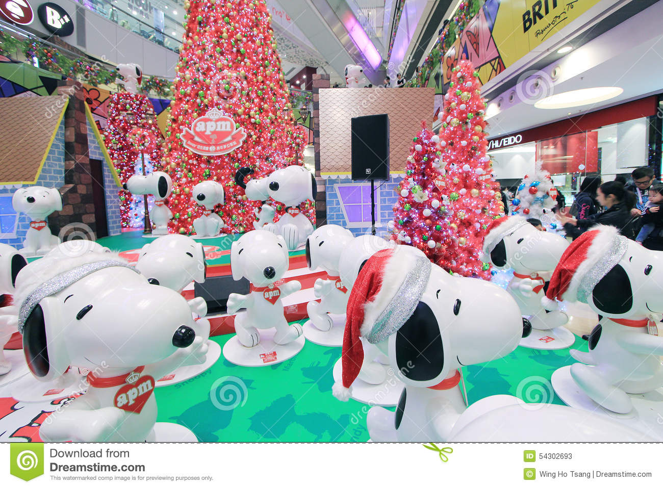 Apm Decoration Hong Kong Apm Snoopy Christmas Decoration Editorial Stock