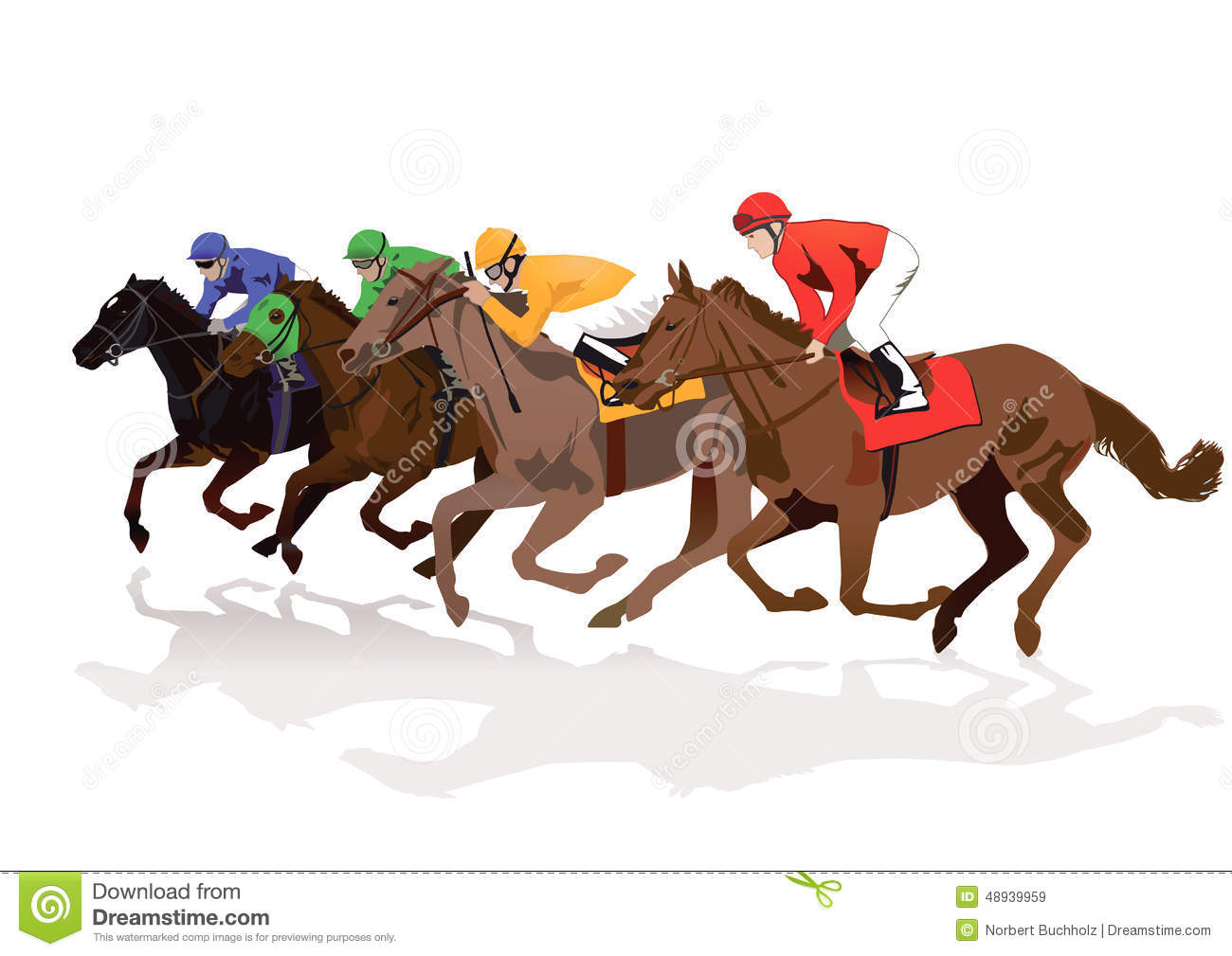 Horse Race Stock Vector Illustration Of Horse Graphics