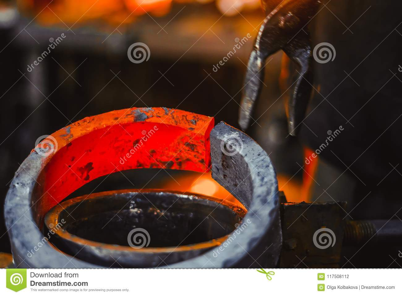 Industrial Forging Hot Item At The Forge Stock Photo Image Of Forged Industrial