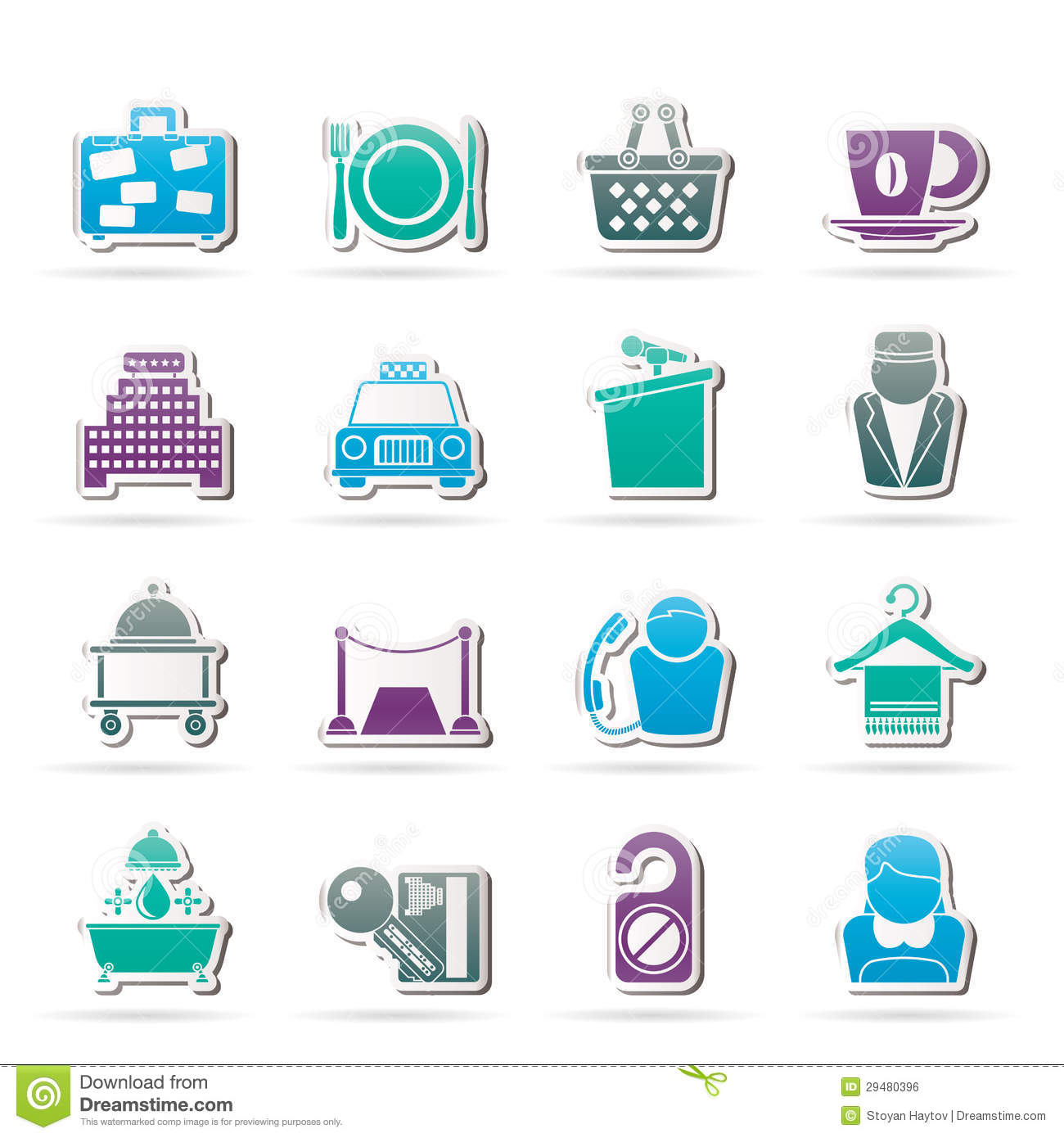 Servicio De Internet Hogar Hotel And Motel Services Icons Royalty Free Stock Image