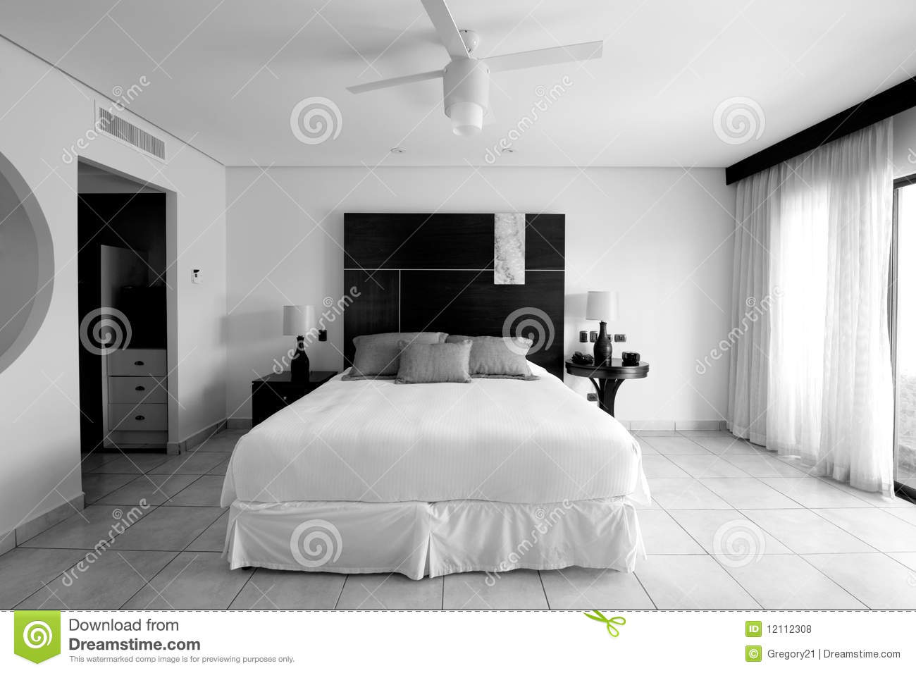 Black Bedroom Suite Hotel Resort Bedroom Suite In Black And White Stock Photo Image