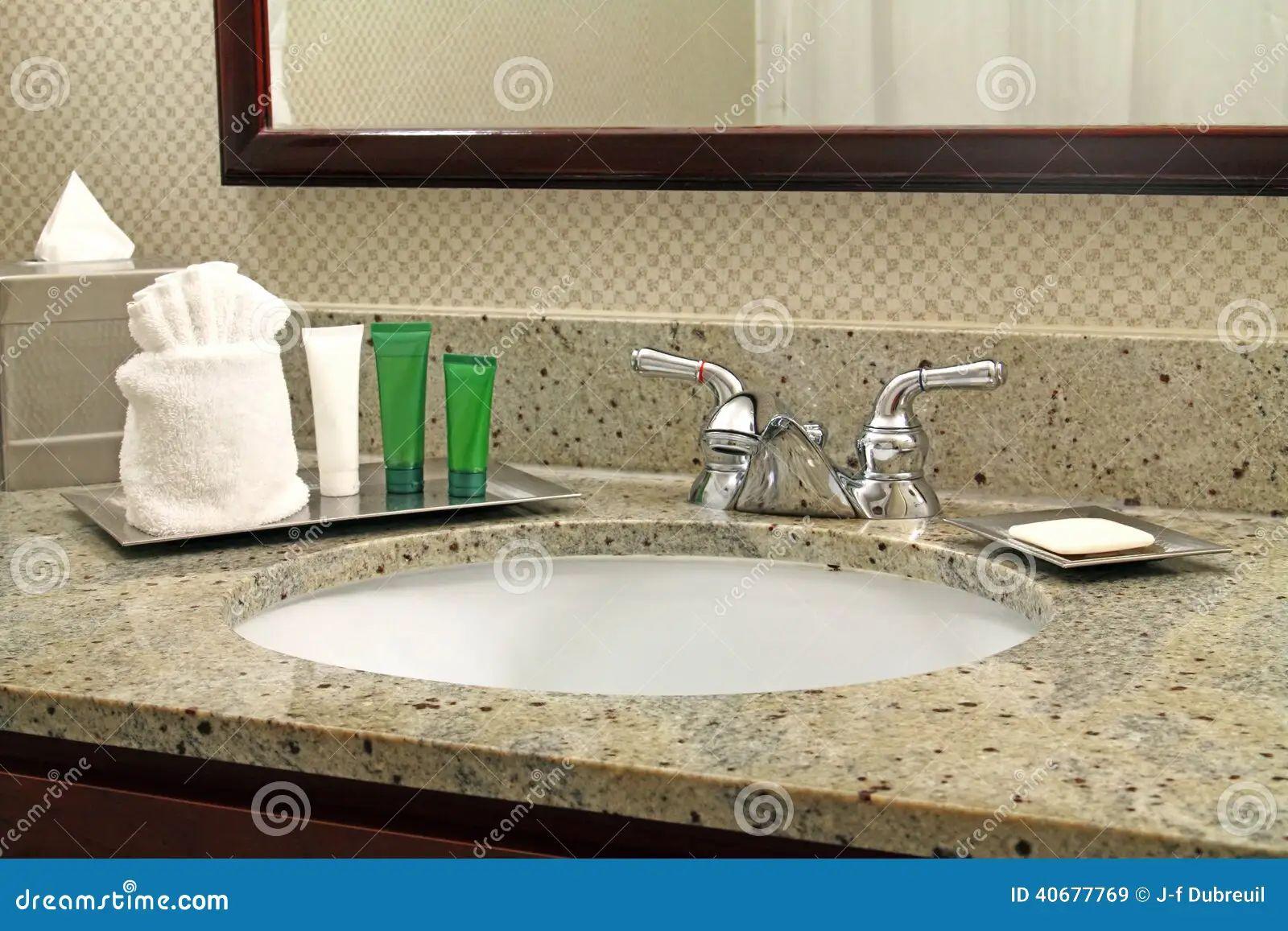 Hotel vanity and toiletries stock photo image 40677769