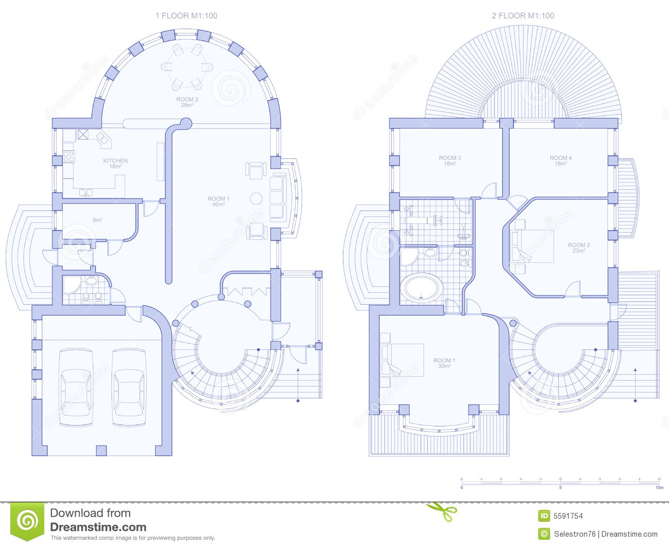 Architecture Design House Plans House Architecture Plan Stock Images Image 5591754
