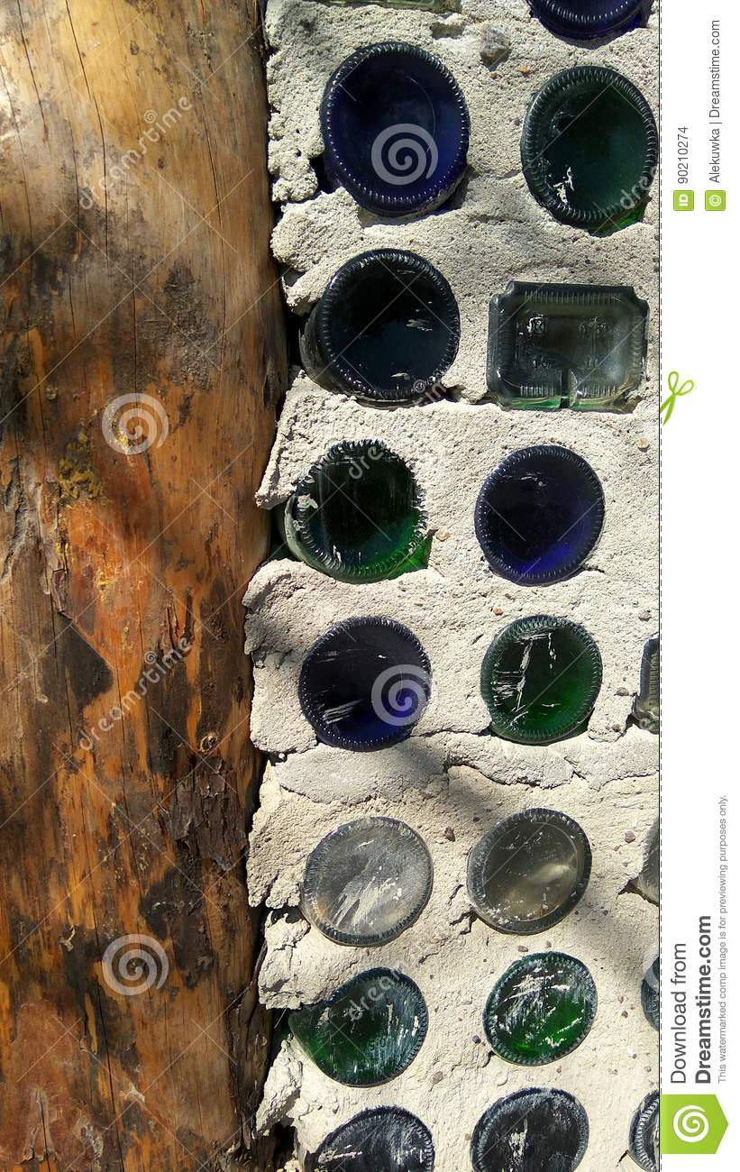 Interesting Bottles The House Is Built Of Bottles Stock Photo Image Of House