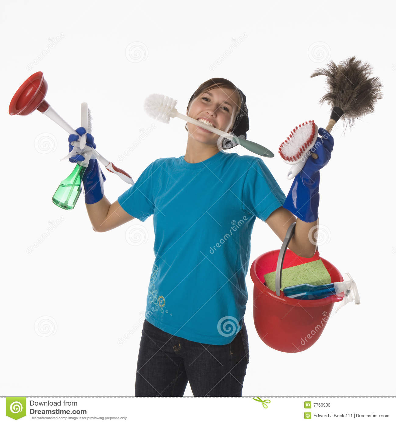 Huis Schoonmaken Stappenplan House Cleaning Stock Image. Image Of Cleaning, Chores