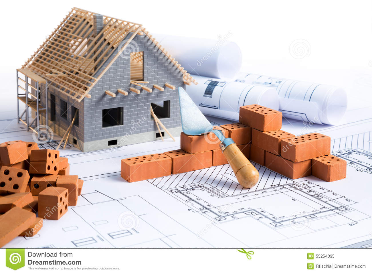 Building Construction Projects House In Construction Project Stock Image Image Of