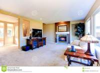 House Interior With Open Floor Plan. Living Room With