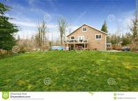 House With Large Backyard Land Stock Photo - Image: 43222959