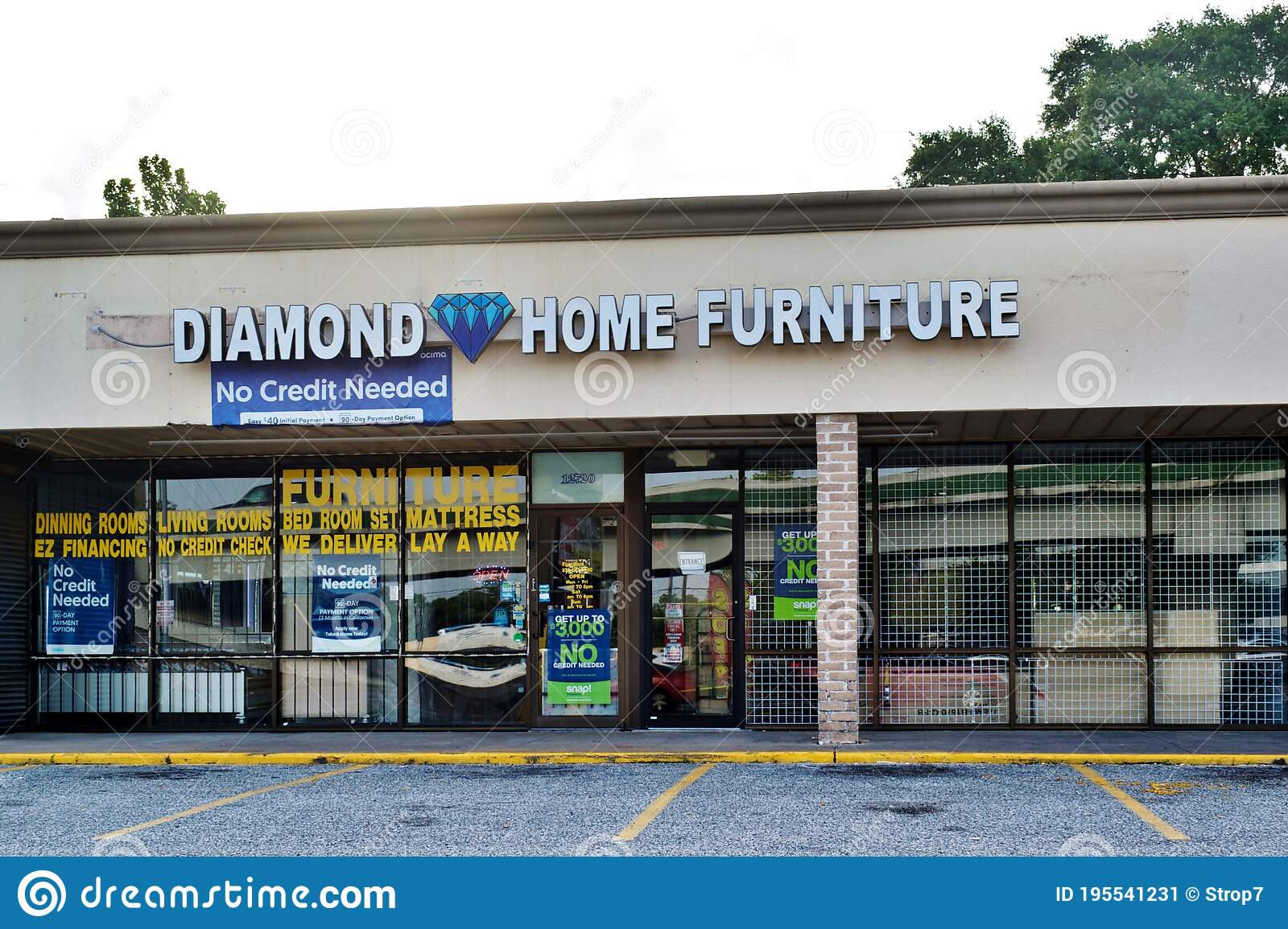 Diamond Home Furniture Store Exterior In Houston Tx Editorial Photo Image Of Diamond Architecture 195541231