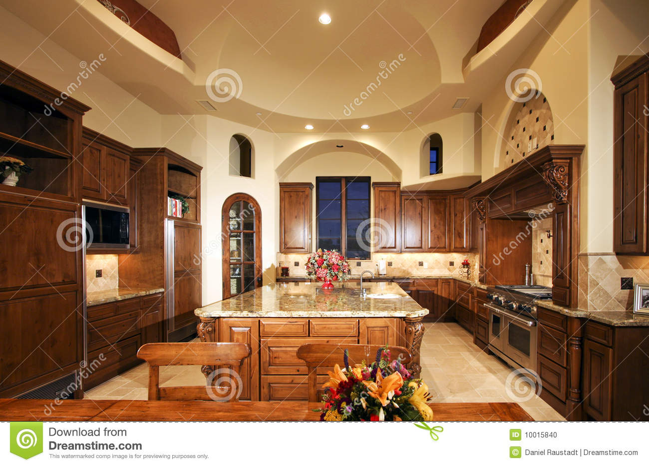 Huge new mansion home kitchen stock photo image 10015840
