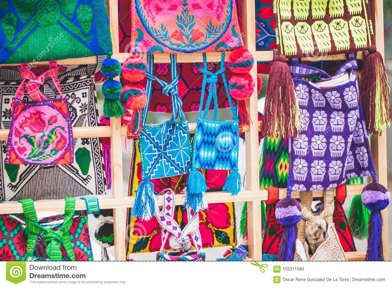 Arte Huichol For Sale Huichol Bag Stock Photo Image Of Colourful Group Structure