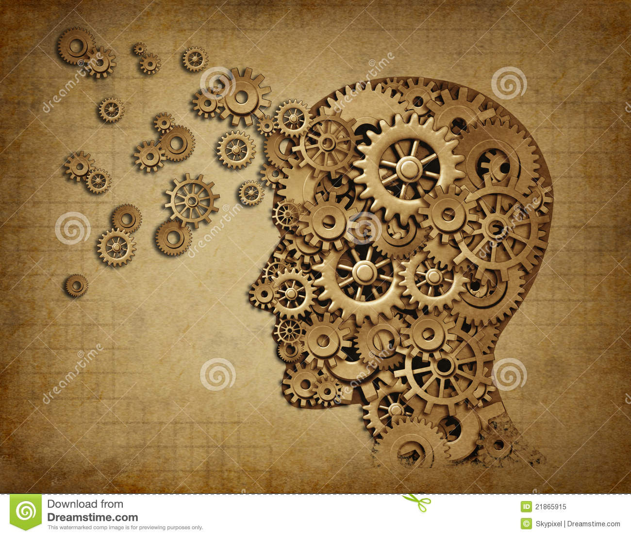 Grunge Wallpaper Hd Human Brain Function Grunge With Gears Stock Illustration