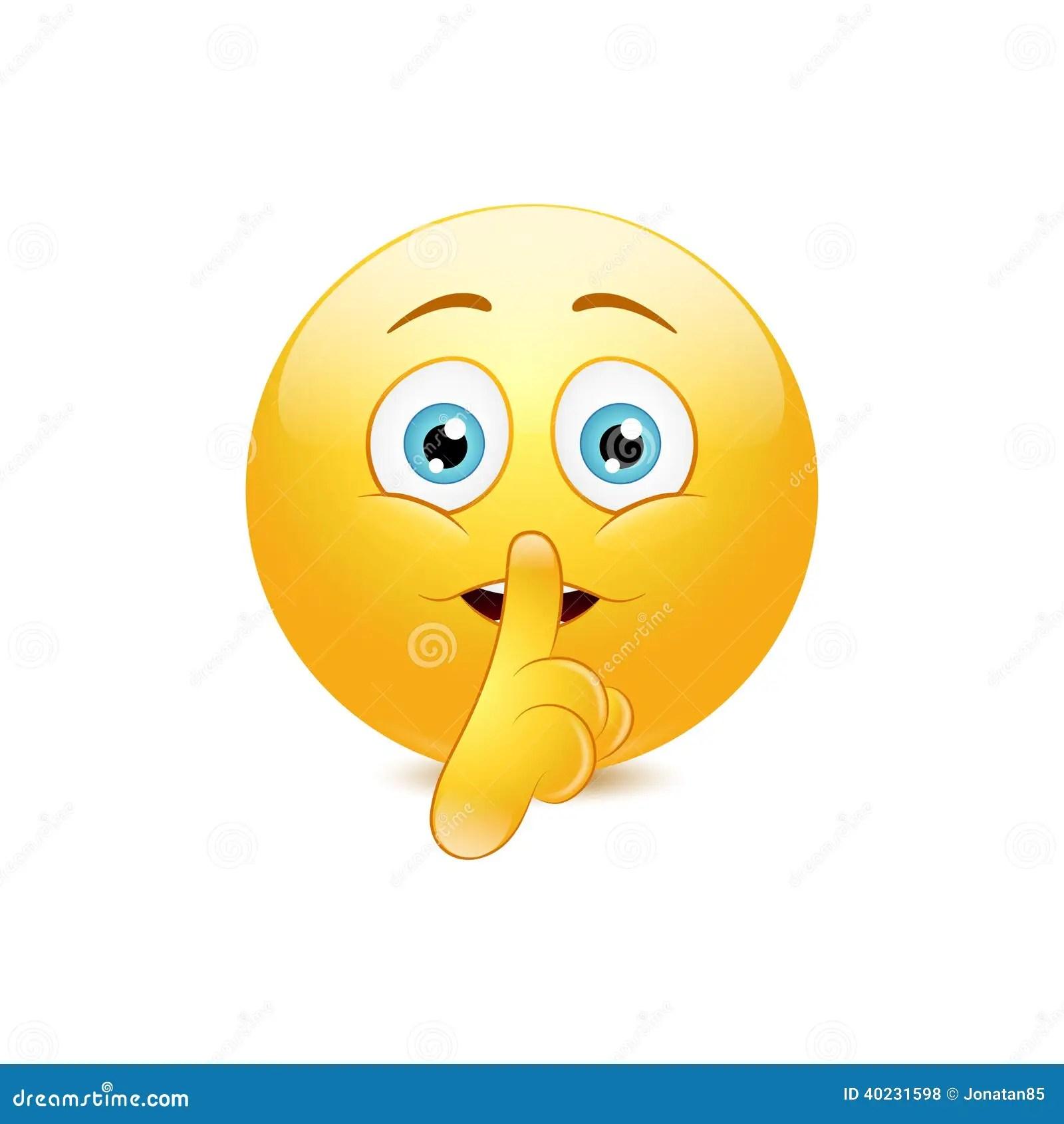 Emoticons Cute Wallpaper Hush Emoticon Stock Vector Illustration Of Illustration