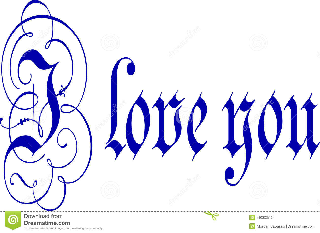 K Written In Calligraphy I Love You Calligraphy Pen And Ink Stock Photo Image