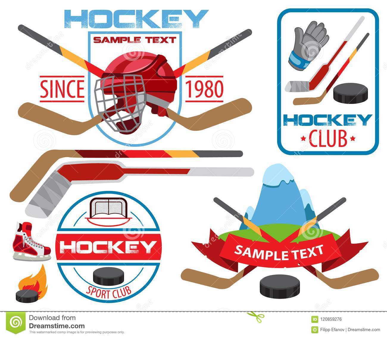 Hockey Logos Ice Hockey Logos Stock Vector Illustration Of Competition 120859276