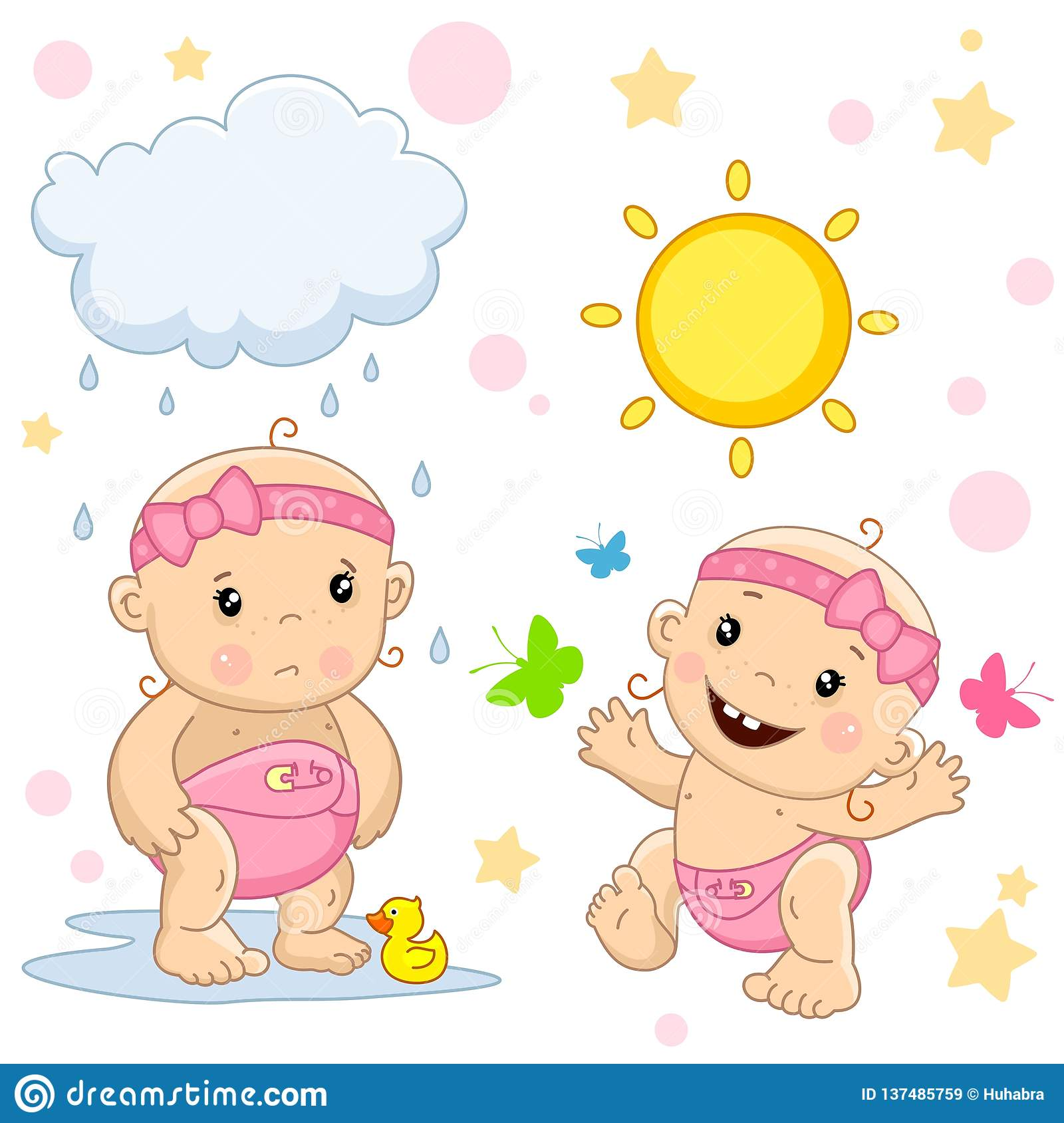 Bad Set For Baby Baby Girl 16 Part Stock Vector Illustration Of Good 137485759