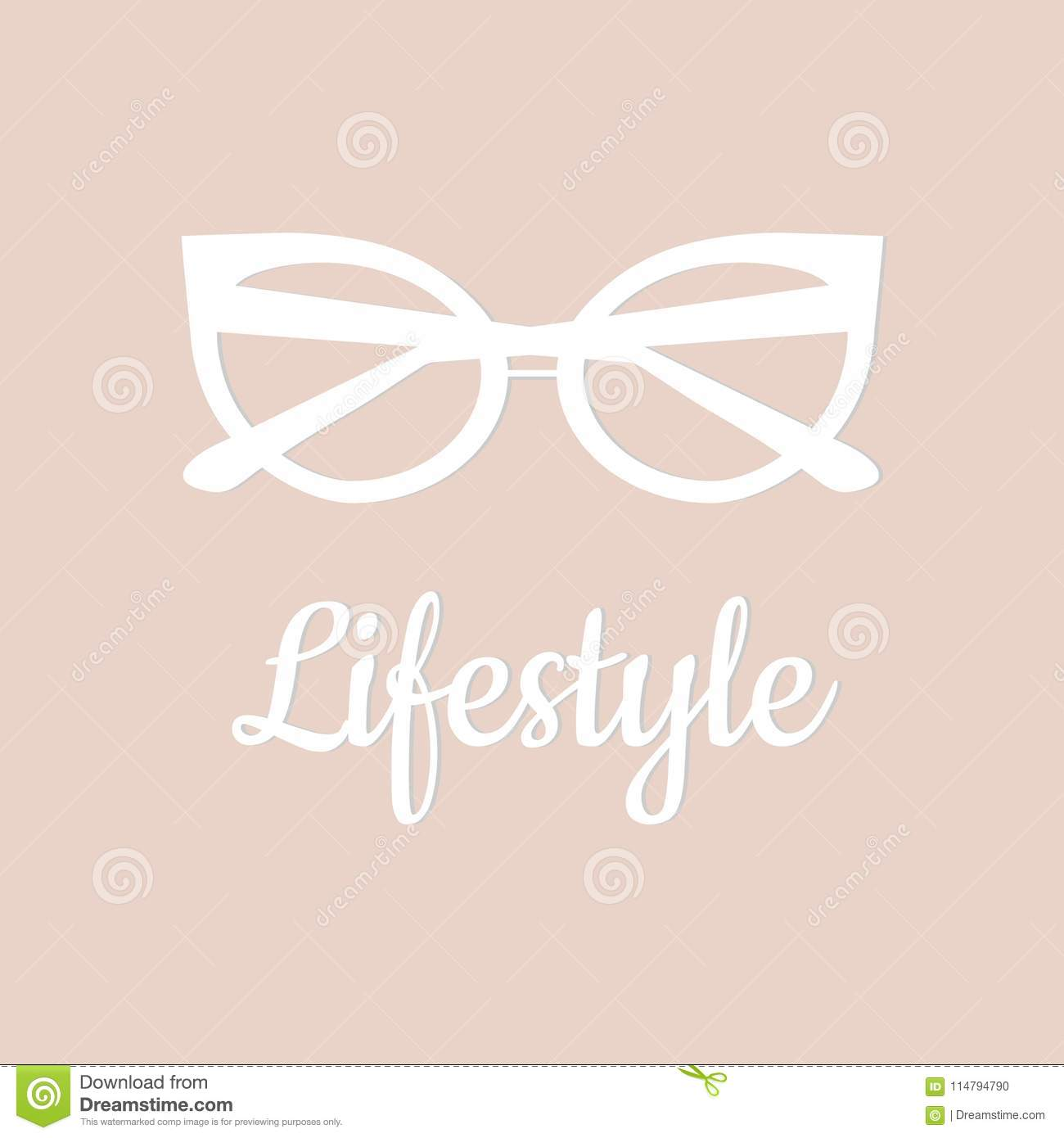 Lifestyle Blog Instagram Icon Template Cover For Lifestyle Blog Stock Vector