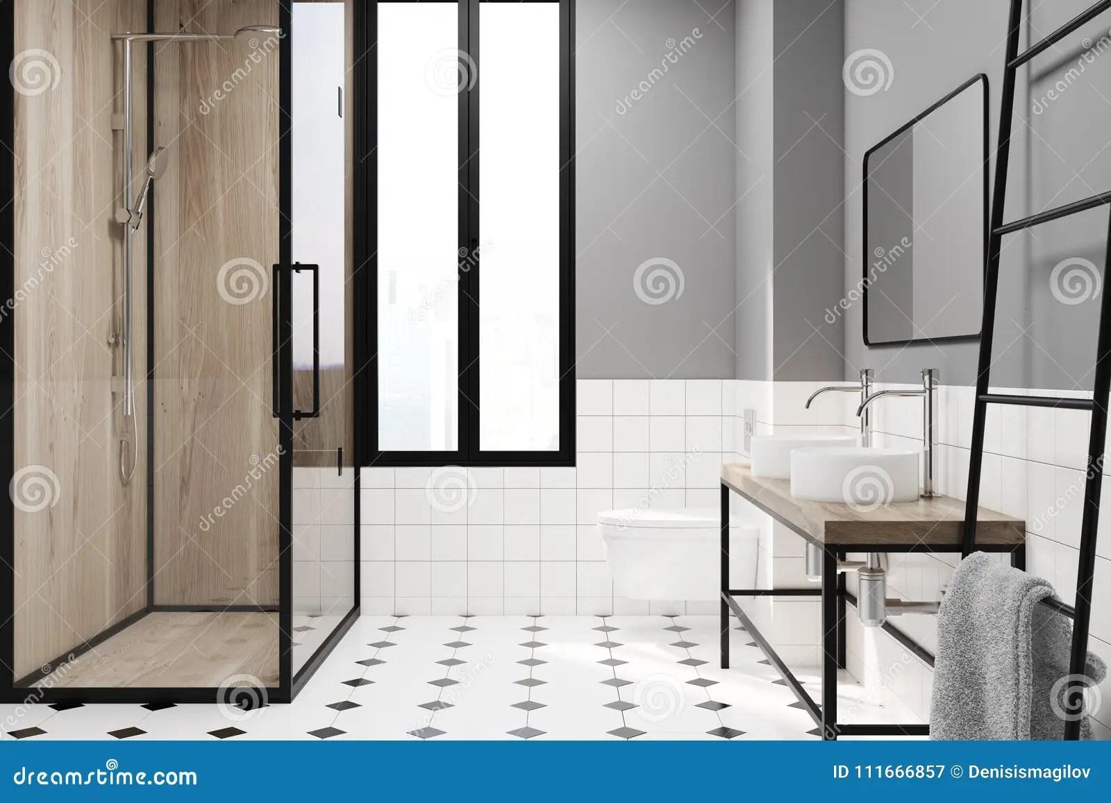 Idee Deco Salle De Bain Noir Et Blanc