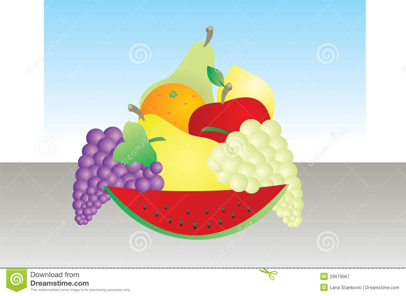 Colorful Fruit Bowl Colorfull Fruit Royalty Free Stock Photography Image