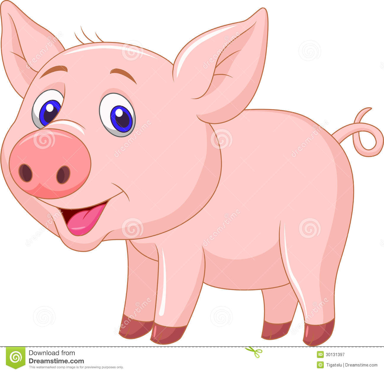 Cute Funny Wallpapers For Lazy Peopke Cute Baby Pig Cartoon Royalty Free Stock Photography