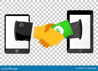 Illustration For Legal Business Agreement Via Mobile Phone, At Transparent Background Stock ...