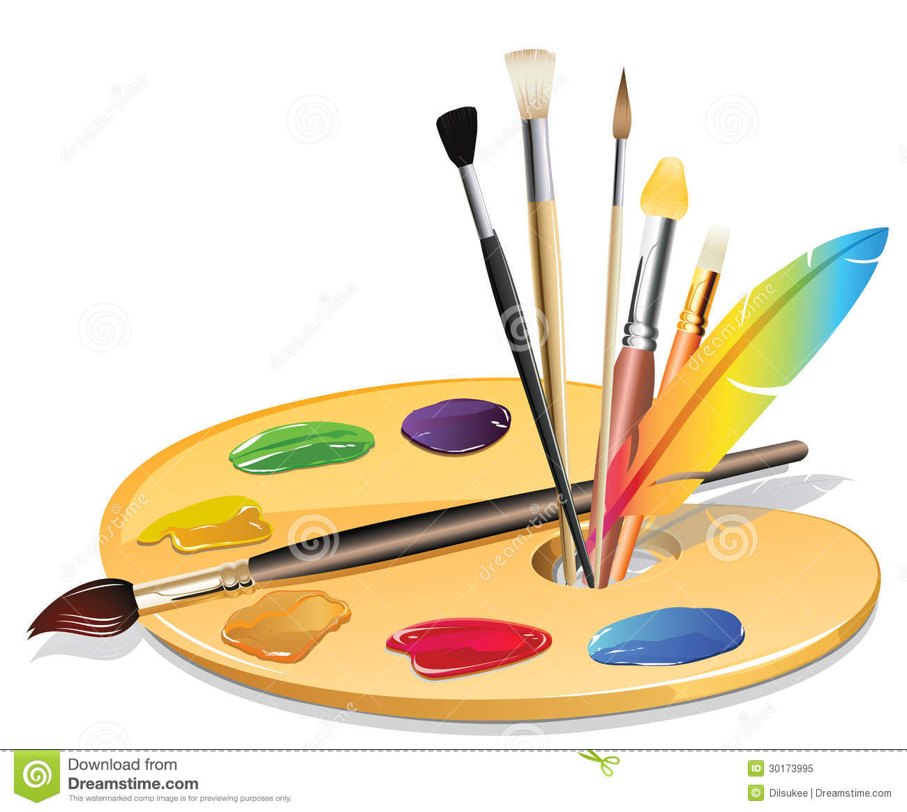 Malerpinsel Clipart Paintbrush And Pallet Royalty Free Stock Photo Image