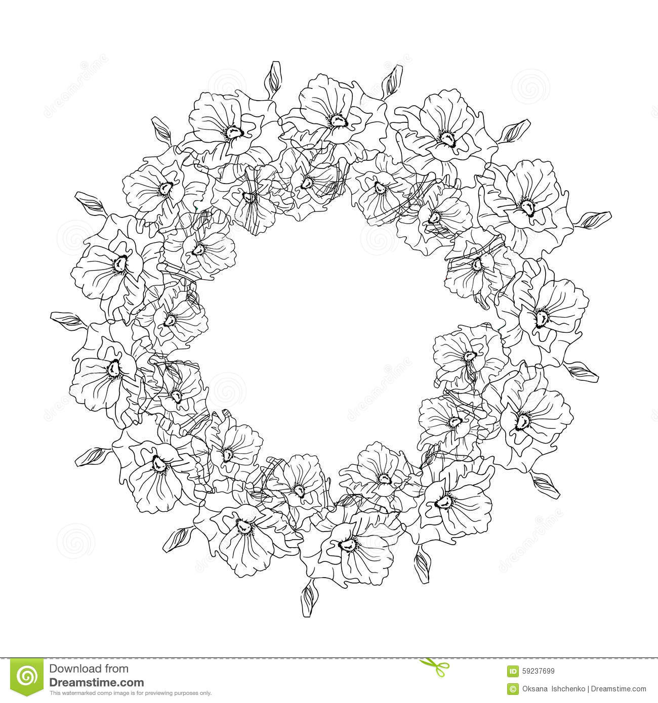 Black and white floral wreath stock vector image 65241515 - Black And White Floral Wreath Stock Vector Image 65241515 Black And White Floral Wreath Stock