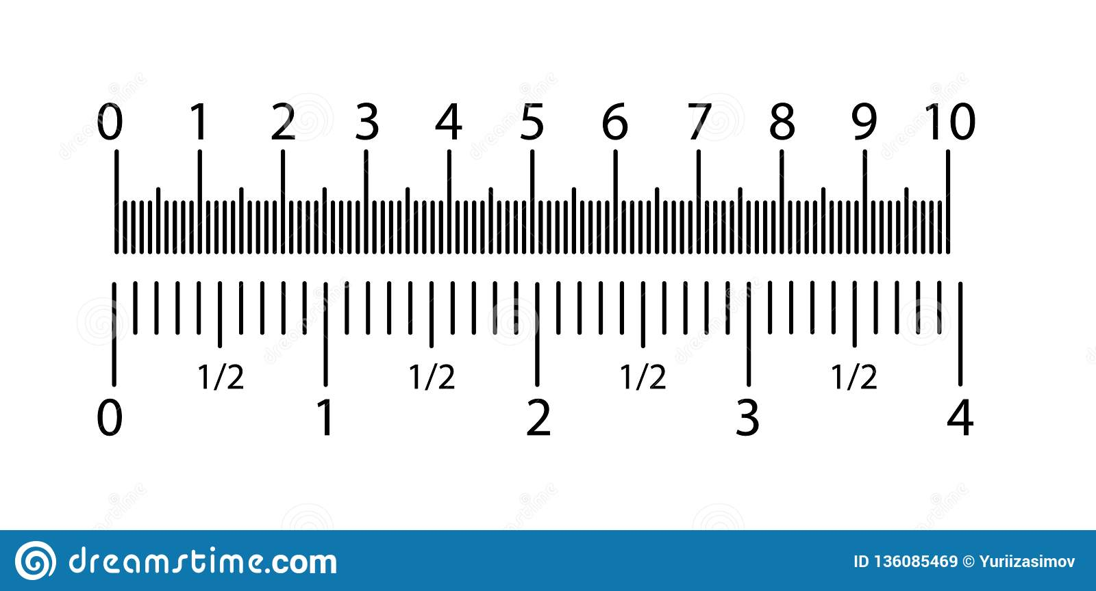 Ich Cm Inch And Metric Rulers Set. Centimeters And Inches Measuring Scale Cm Metrics Indicator. Precision Measurement Stock Vector - Illustration Of Graph, Indication: 136085469