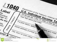 Income Tax Form Royalty Free Stock Photo - Image: 1927765