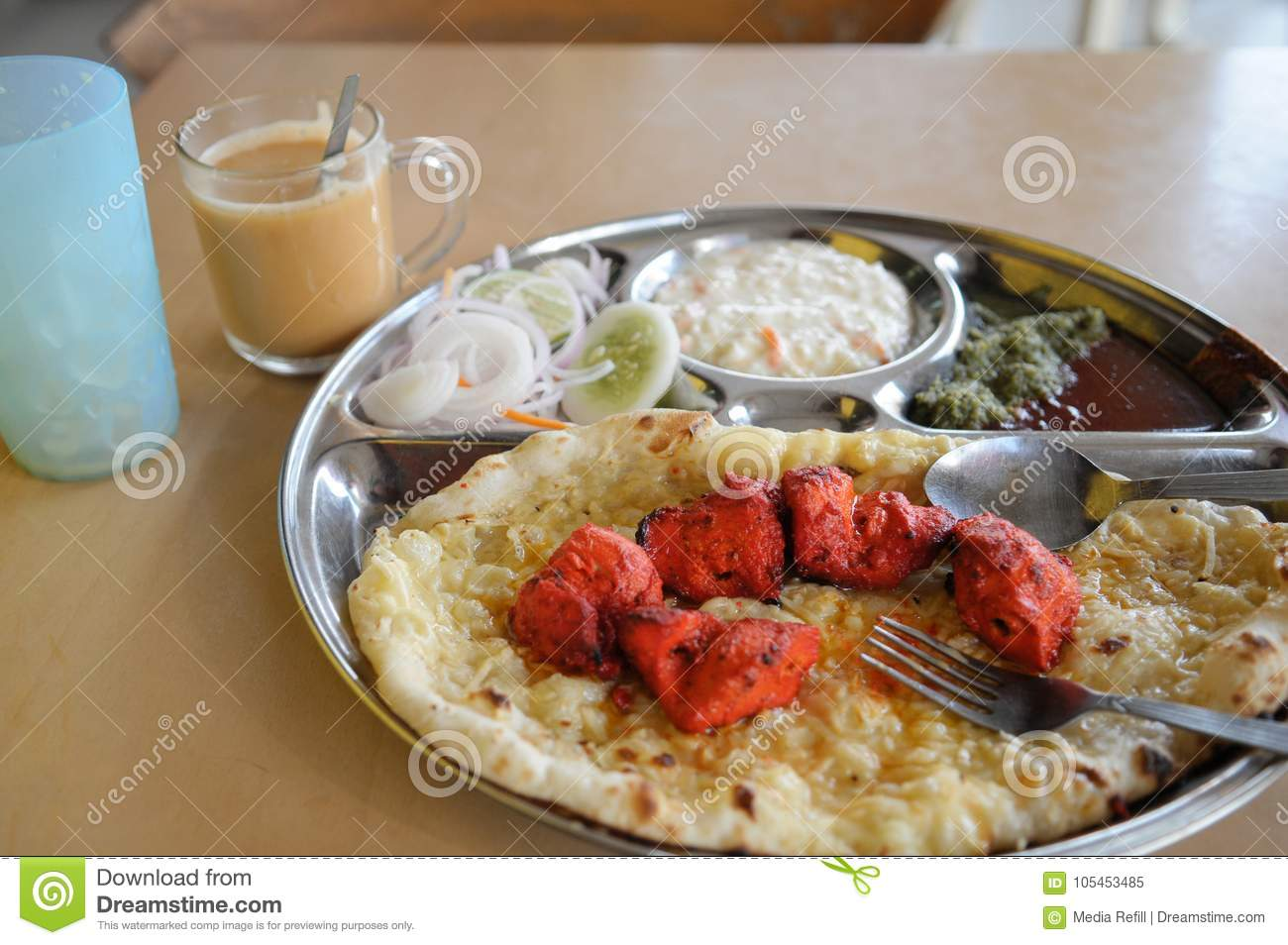 Cuisine India India Lunch Set With Indian Cuisine Stock Image Image Of Plate
