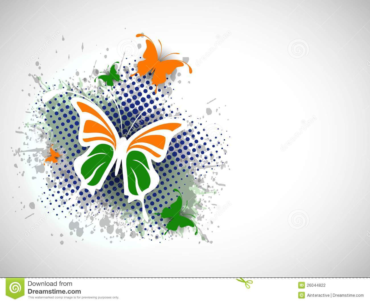 Stylish Wallpapers With Quotes Indian Flag Butterfly On Creative Background Stock Vector