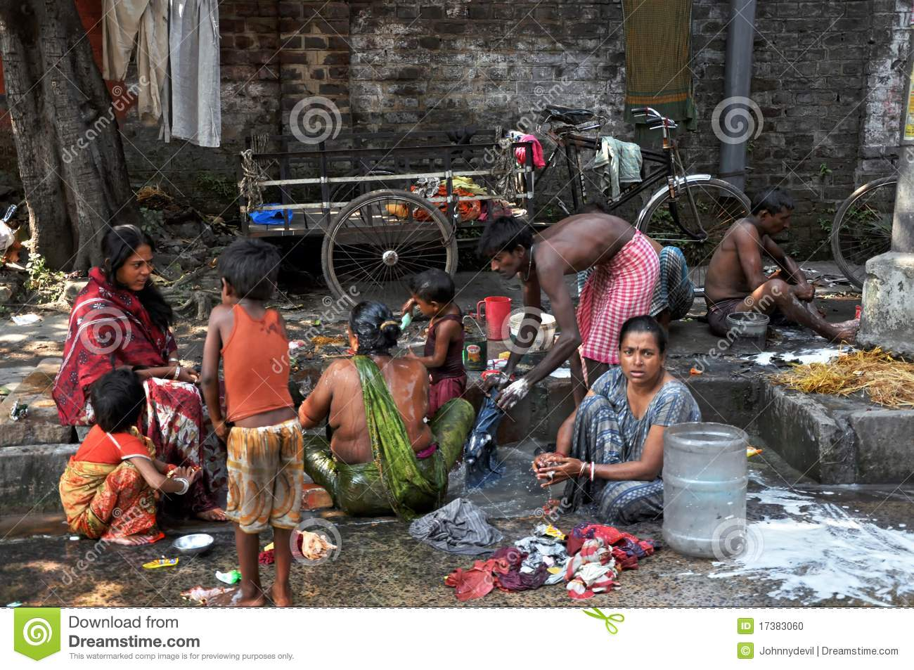 People India Indian People And Hygiene On A Street Editorial Image