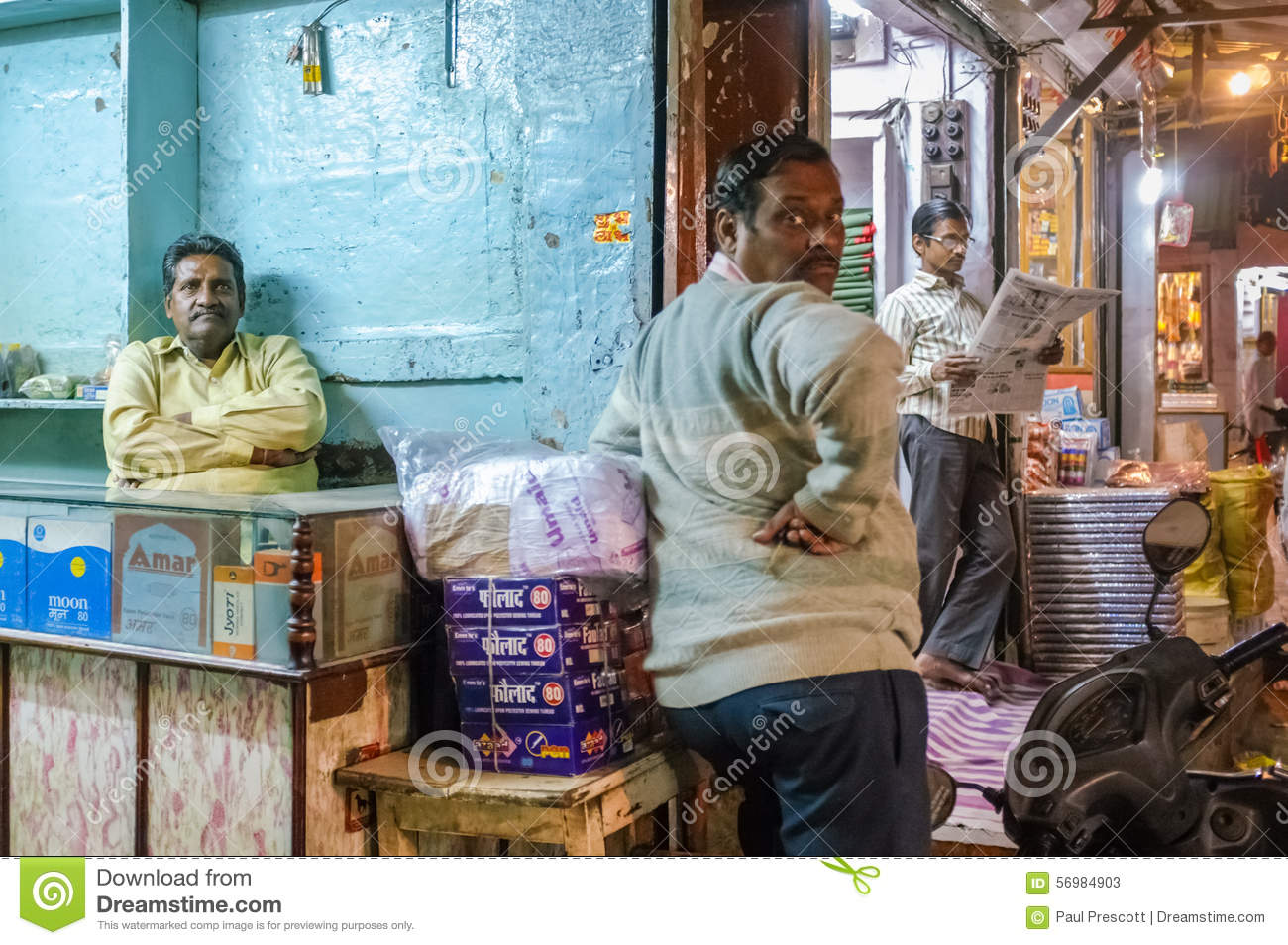 Apart Shop Indian Shop Owners Editorial Stock Photo Image Of Packages 56984903